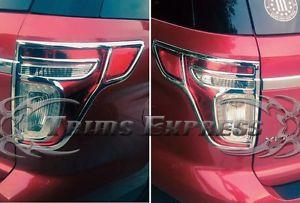 US ライトガード プロテクター 2011年-2015フォードエクスプローラテールライトテールライトクロームガードカバーベゼル - 2個 2011-2015 Ford Explorer Tail Light Taillight Chrome Guards Covers Bezel - 2Pcs
