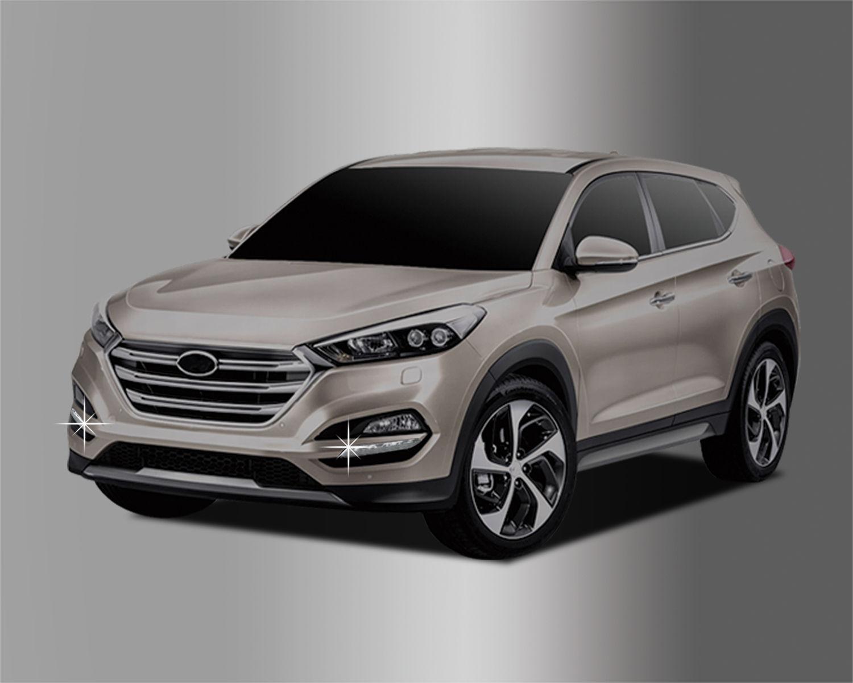 US ライトガード プロテクター フロントクロームデイライトバンパーモールディングガード2p 2016用Hyundai:ALL NEW TUCSON Front Chrome Day Light Bumper Molding Guard 2p For 2016 Hyundai : ALL NEW TUCSON
