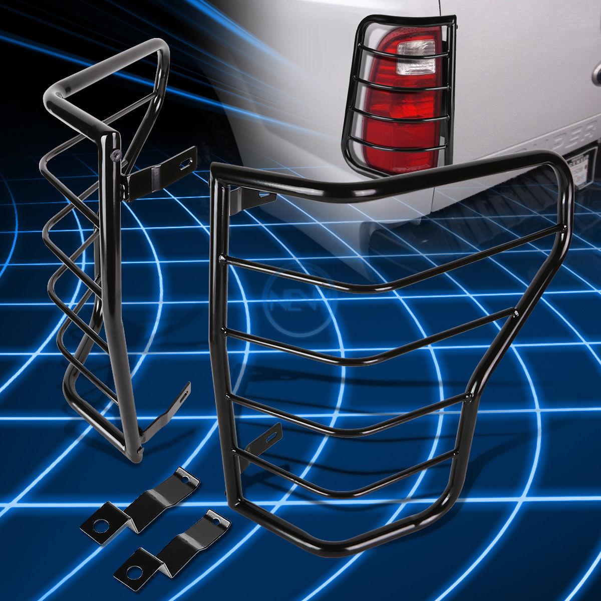 US ライトガード プロテクター 2007-2013トヨタトンドラピックアップのためのブラックスチールテールライトガードプロテクターカバー Black Steel Tail Light Guard Protector Cover for 2007-2013 Toyota Tundra Pickup