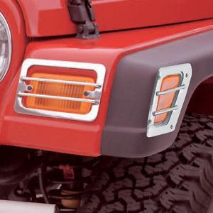 US ライトガード プロテクター ジープラングラーTJ 97-06サイドランプ& パークライトユーロガードステンレスX 11142.02 Jeep Wrangler Tj 97-06 Side Lamp & Park Light Euro Guards Stainless X 11142.02