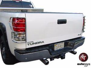 US ライトガード プロテクター ATU 2007-2013トヨタトンドラステンレステールライトガードプロテクター - 2つのセット ATU 2007-2013 Toyota Tundra Stainless Tail Lights Guards Protectors - SET of Two