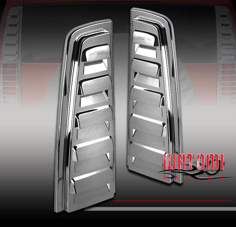 US ライトガード プロテクター 03-09ハマーH2リアーアップテールライトランプ通風カバーガードトリムクローム06 07 08 03-09 HUMMER H2 REAR UPPER TAIL LIGHT LAMP VENT COVER GUARD TRIM CHROME 06 07 08