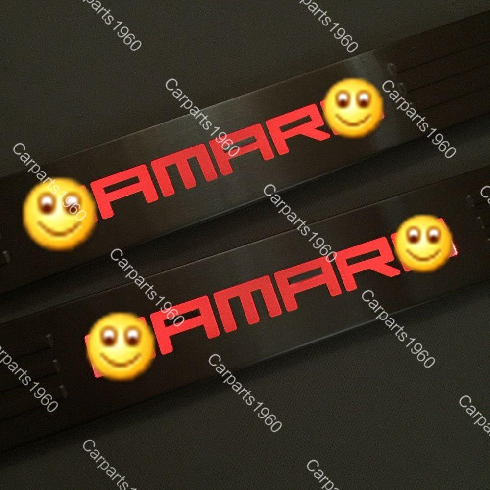 US ライトガード プロテクター シボレーシボレーカマロ10-15レッドのためのLEDライトドアシルクスカフプレートガードシル LED Light Door Sill Scuff Plate Guard Sills for Chevy Chevrolet Camaro 10-15 Red