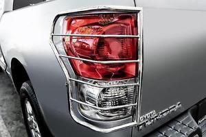 US ライトガード プロテクター 07-14トヨタFJクルーザーステンレスプレミアムテールライトガードプロテクタークロームペア 07-14 TOYOTA FJ CRUISER STAINLESS PREMIUM TAIL LIGHT GUARD PROTECTOR CHROME PAIR