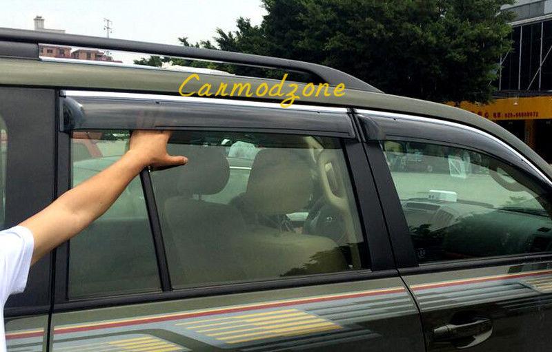 US ライトガード プロテクター トヨタランドクルーザーLC200 2008-2016のライトウィンドウバイザーベントサンレインガード Light Window Visor Vent Sun Rain Guard For Toyota Land Cruiser LC200 2008-2016