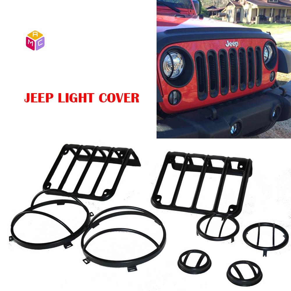 US ライトガード プロテクター ジープラングラーテールライトライトガードキットターンシグナルフェンダーライトカバーライト Jeep Wrangler Tail Lights Light Guard Kit Turn Signal Fender light cover light