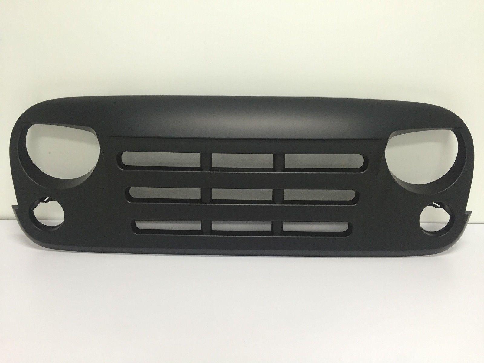 USグリル  トラック怒っている鳥のアップグレードフロントマットブラックグリルの外装ジープラングラーJK Truck Angry Bird Upgrade Front Matte Black Grille Exterior For Jeep Wrangler JK