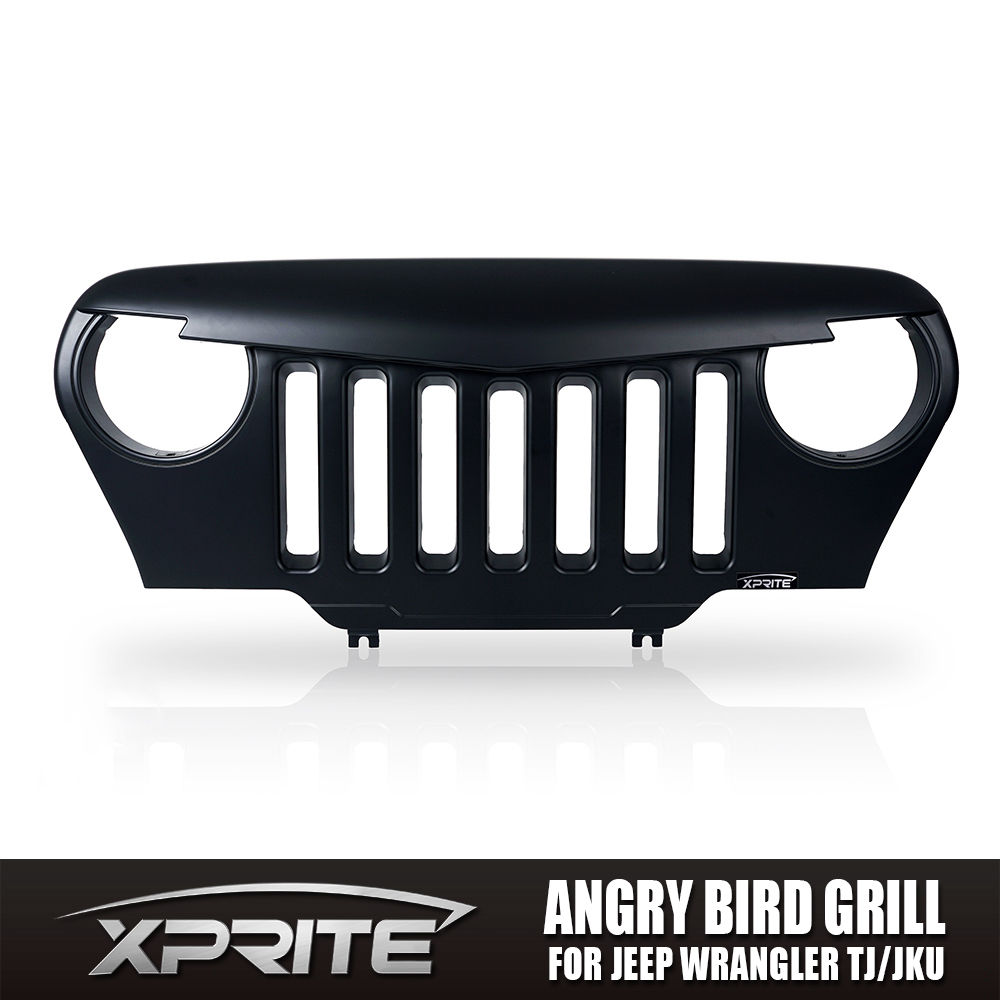 USグリル  アングリーバードカスタムフロントエンドマットブラックグリルグリル97-06用ジープラングラーTJ Angry Bird Custom Front End Matte Black Grille Grill for 97-06 Jeep Wrangler TJ