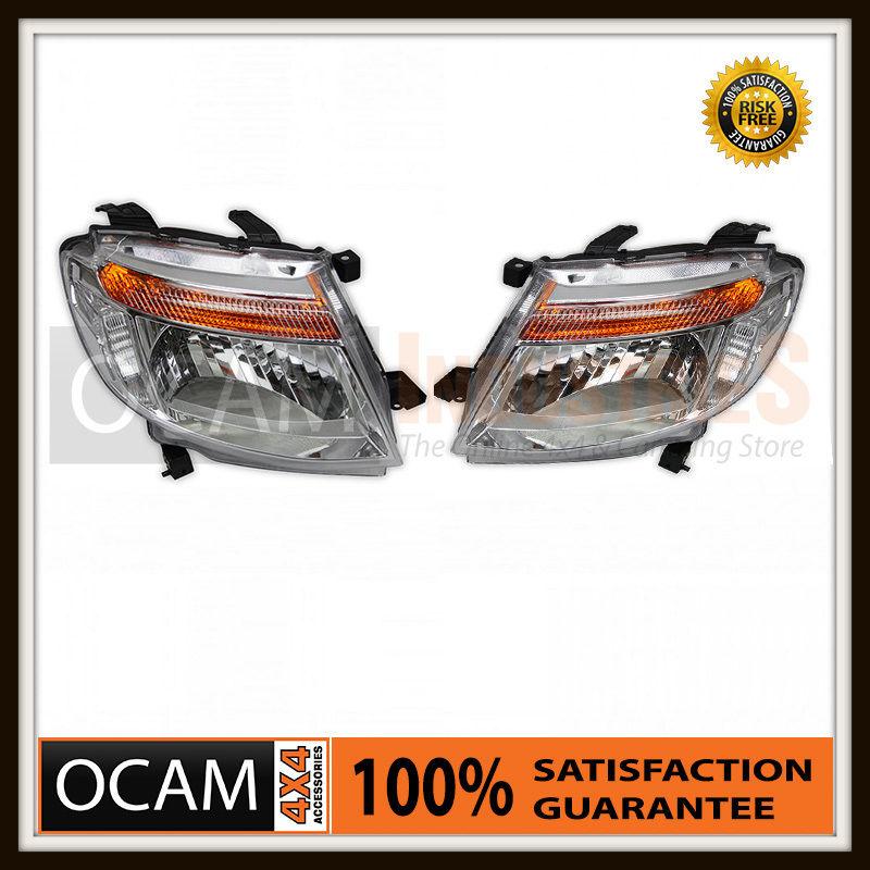 USワイドフェンダー フォードレンジャーPX 2012-15 LH& RHサイドヘッドランプ Headlights For Ford Ranger PX 2012-15 LH & RH Side Headlamps