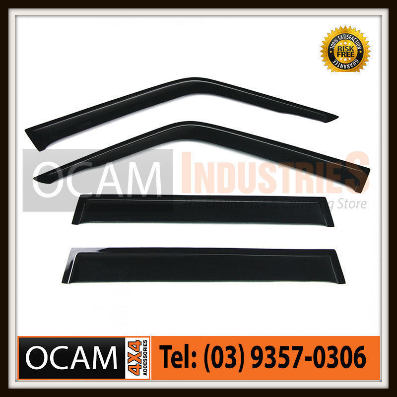 USワイドフェンダー トヨタLandcruiserのためのOCAM Weathershields 70 76 78 79シリーズの窓のバイザー OCAM Weathershields For Toyota Landcruiser 70 76 78 79 Series Window Visors