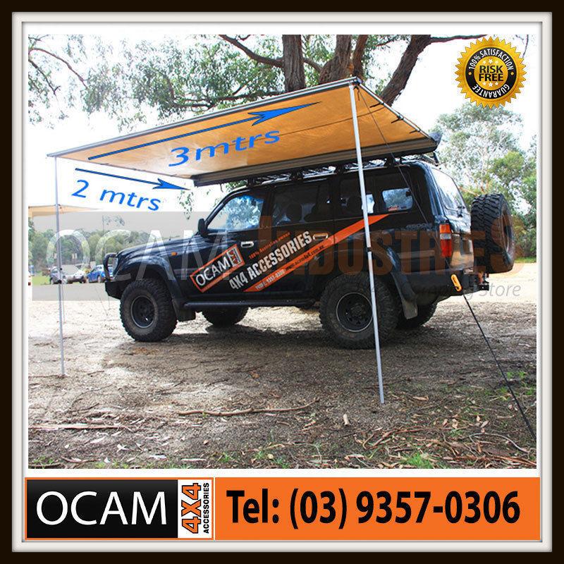 USワイドフェンダー 3M×2Mのクロスカーテン・テントキャンパー・トレーラー4X4 4WD 30 Awning 3M x 2M 280g Cross Thread Pullout Car Side Tent Camper Trailer 4X4 4WD 30