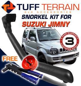 USエア インテーク シュノーケル シュノーケルキットスズキジムに合うように1997-2010 1.3Lガソリンエアインテーク4x4無料ボーナス Snorkel Kit To Suit Suzuki Jimny 1997-2010 1.3L Petrol Air Intake 4x4 FREE BONUS
