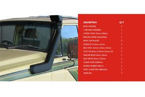 USエア インテーク シュノーケル 日産MQ MKパトロール用MAKスノーケルエアーラムインテークキットSD33 SD33-T 3.3L MAK Snorkel Air Ram Intake Kit For Nissan MQ MK Patrol SD33 SD33-T 3.3L