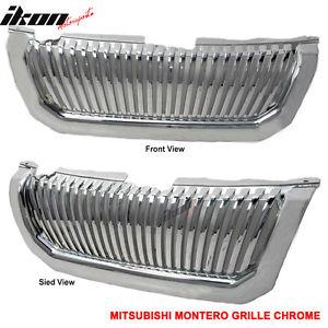 USグリル 00-04三菱モンテッロスポーツクロームフードグリルABS 00-04 Mitsubishi Montero Sport Chrome Hood Grille ABS