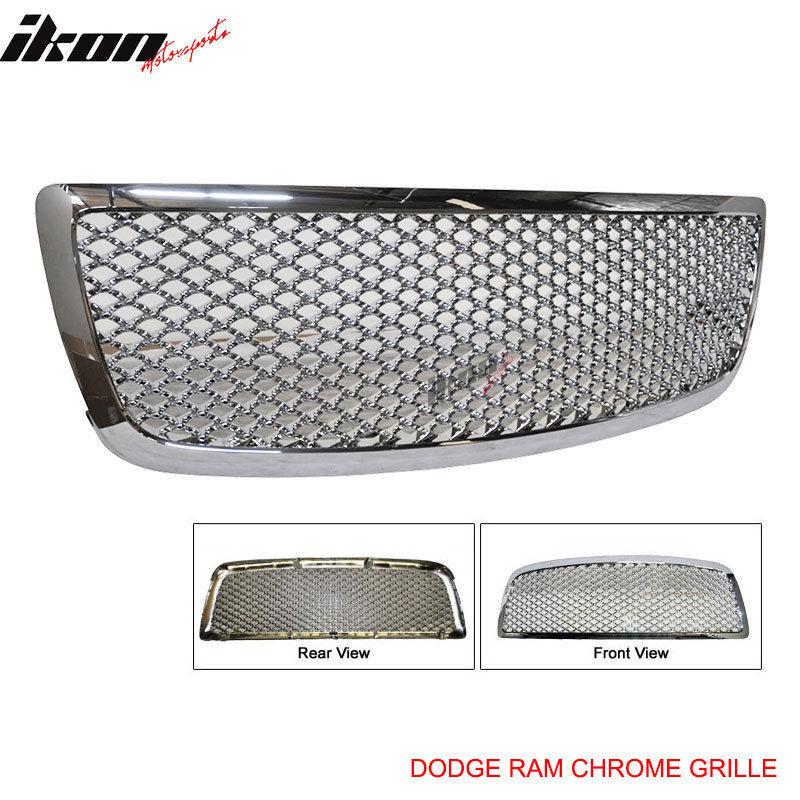 ☆送料無料☆USパーツ 海外メーカー輸入品 営業 USグリル 09-11 Dodge RamクロームABSクロームメッキフロントフードグリルZ 本日の目玉 Ram Chrome Mesh Z Front Grille Hood Plated ABS