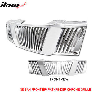 USグリル Fit For 05-08日産パスファインダーフロンティアABSフードグリルクローム Fit For 05-08 Nissan Pathfinder Frontier ABS Hood Grille Chrome