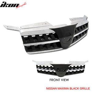 USグリル フィット04-06日産マキシマブラックスポーツフードグリルグリル Fit For 04-06 Nissan Maxima Black Sports Hood Grille Grill