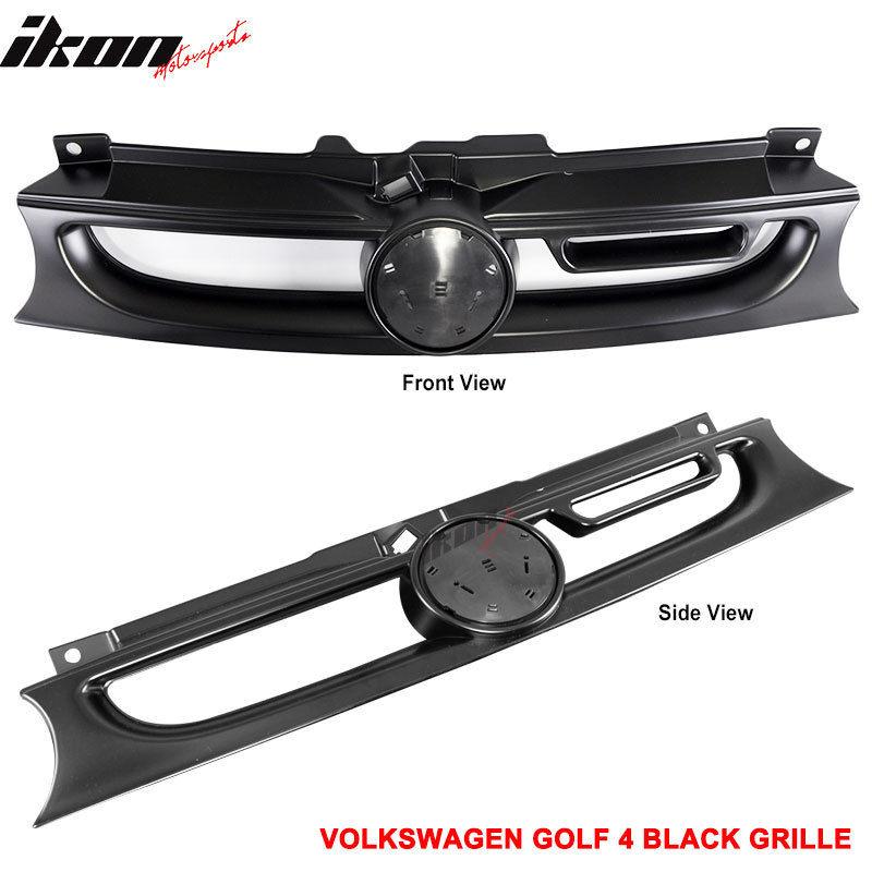 USグリル 99-04 VWゴルフ4 MK4 R32 GTI ABSブラックフードグリルメッシュ 99-04 VW Golf 4 MK4 R32 GTI ABS Black Hood Grille Mesh