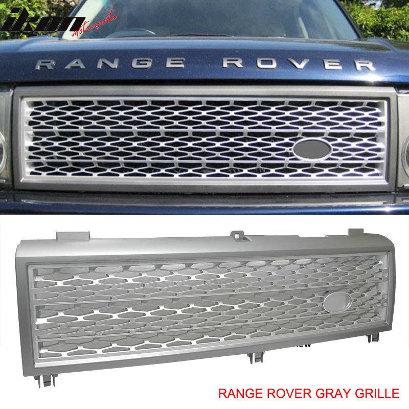USグリル 03ランドレンジローバーグレーシルバーフロントフードグリルグリル 03 Land Range Rover Gray Silver Front Hood Grill Grille