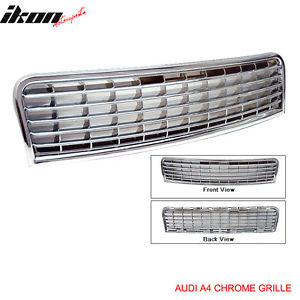 USグリル 02-05アウディA4 ABSクロムフードグリルグリル 02-05 Audi A4 ABS Chrome Hood Grille Grill
