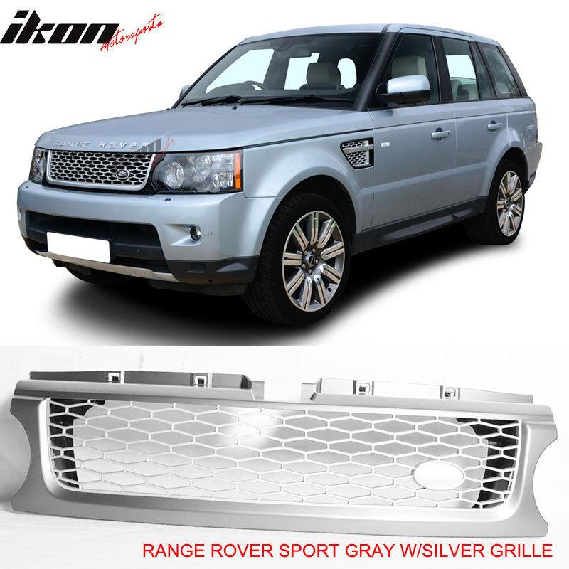 USグリル 10-13ランドレンジローバースポーツグレーシルバーフロントバンパーフードグリルグリル 10-13 Land Range Rover Sport Gray Silver Front Bumper Hood Grille Grill