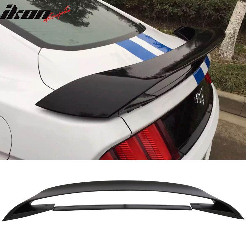 USスポイラー 15-17フォードマスタングGT350 GT350RスタイルABSトランクウィングマットブラックロワースポイラー 15-17 Ford Mustang GT350 GT350R Style ABS Trunk Wing Matte Black Lower Spoiler