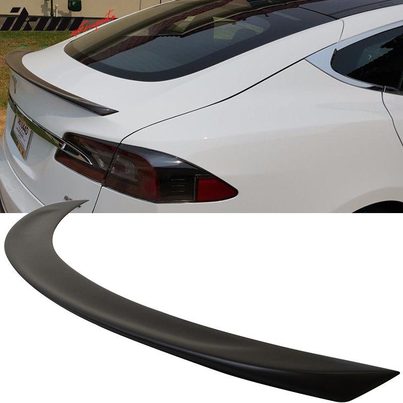 USスポイラー 12-16テスラモデルS 4Drセダンリアトランク・スポイラーウイング未塗装FRP 12-16 Tesla Model S 4Dr Sedan Rear Trunk Spoiler Wing Unpainted FRP
