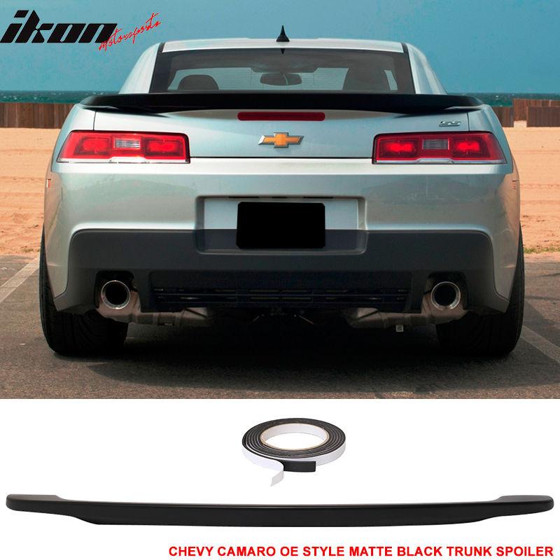 USスポイラー 14-15シボレーカマロOEローブレード塗装マットブラックトランクスポイラーウィング - ABS 14-15 Chevy Camaro OE Low Blade Painted Matte Black Trunk Spoiler Wing - ABS