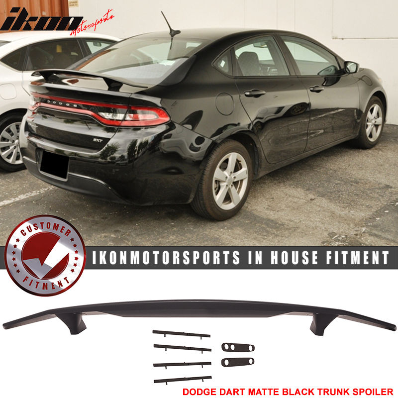 USスポイラー 13-16ダッジダートマットブラックトランクスポイラーウィング - ABS 13-16 Dodge Dart Matte Black Trunk Spoiler Wing - ABS