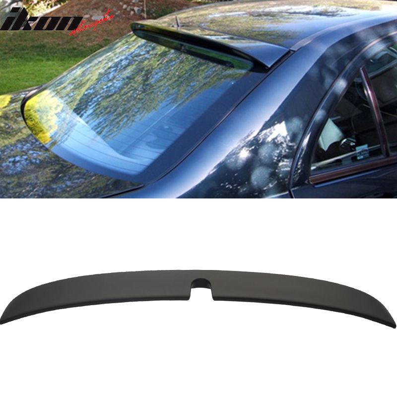 USスポイラー マットブラック! 01-07メルセデスベンツW203 Cクラス4Drセダンルーフスポイラーウィング - ABS Matte Black! 01-07 Mercedes-Benz W203 C-Class 4Dr Sedan Roof Spoiler Wing - ABS