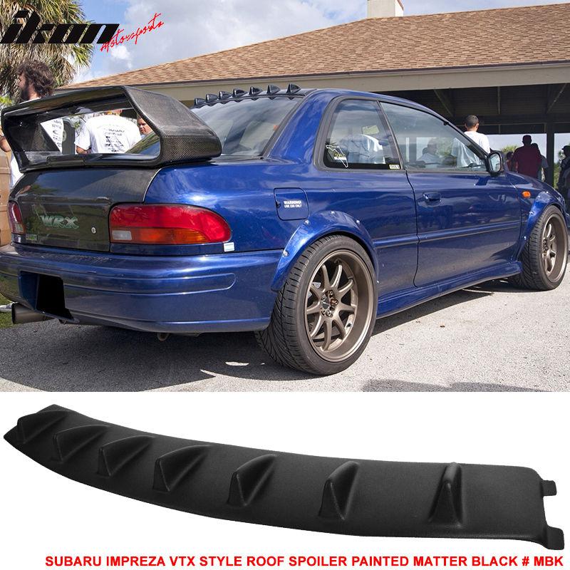 USスポイラー 93-01用スバルインプレッサVTX VGスタイルルーフフィンスポイラーペイントマターブラック#MBK For 93-01 Subaru Impreza VTX VG Style Roof Fin Spoiler Painted Matter Black #MBK