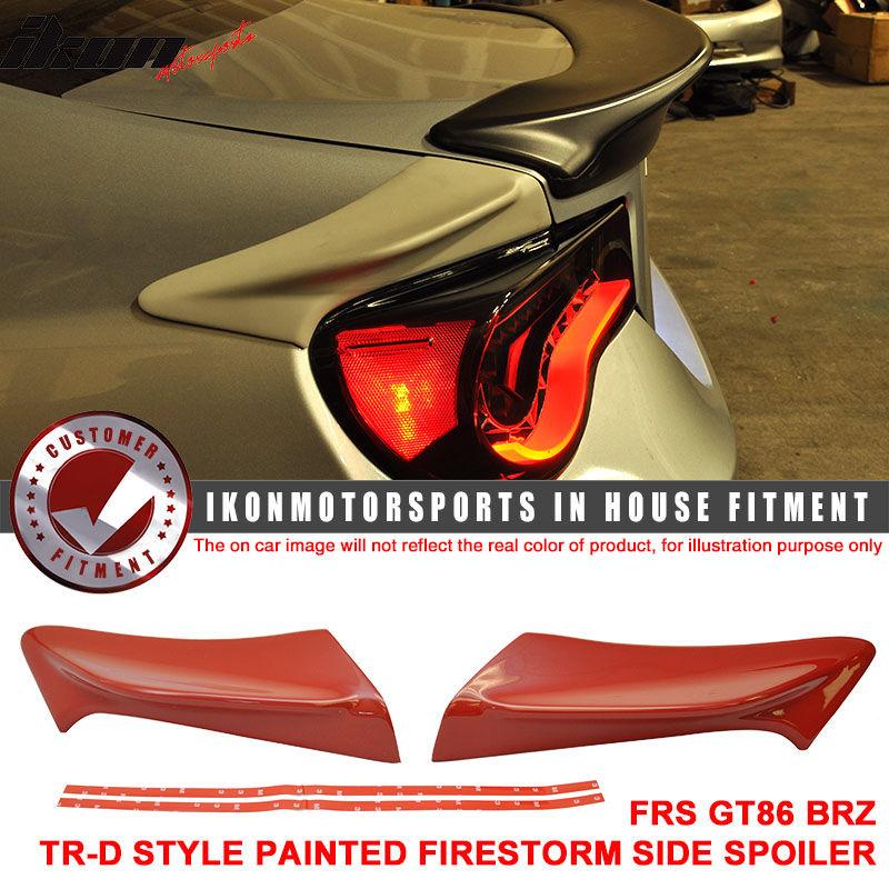 USスポイラー フィットFRS GT86 FT86 BRZ TR-D塗装#C7Pファイアストームサイドスポイラー - ABS Fit FRS GT86 FT86 BRZ TR-D Painted # C7P Firestorm Side Spoiler - ABS