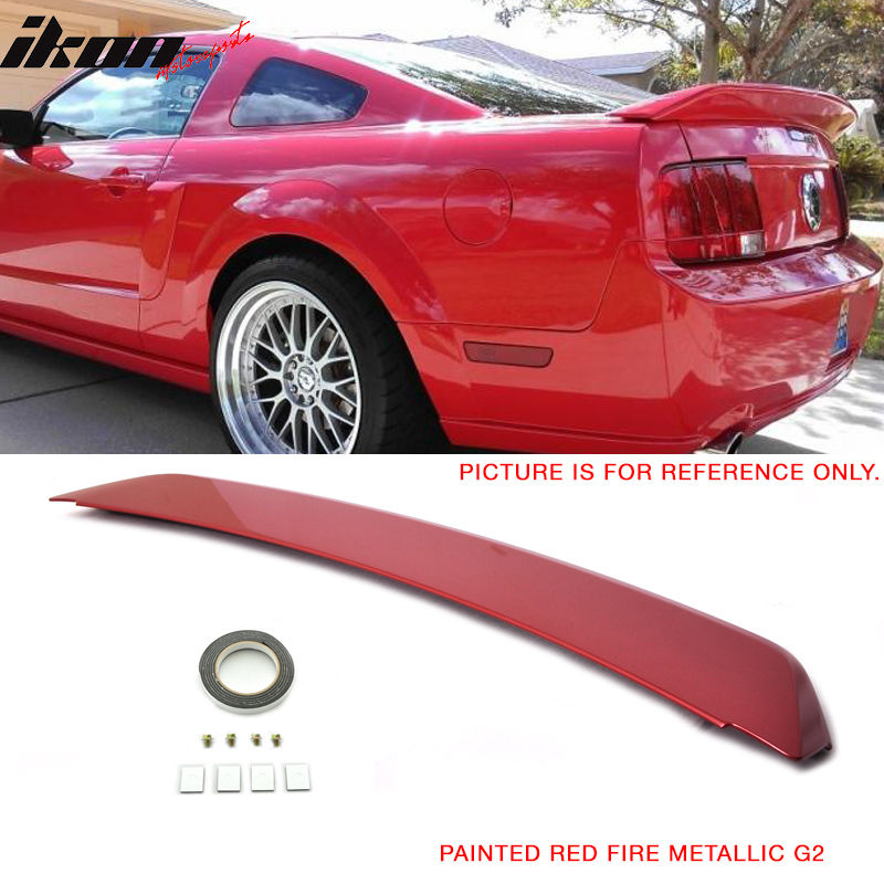 USスポイラー フィット05-09マストゥンOEスタイルトランクスポイラーABS塗装ABS#G2 Redfire Metallic Fit 05-09 Mustang OE Style Trunk Spoiler ABS Painted ABS # G2 Redfire Metallic