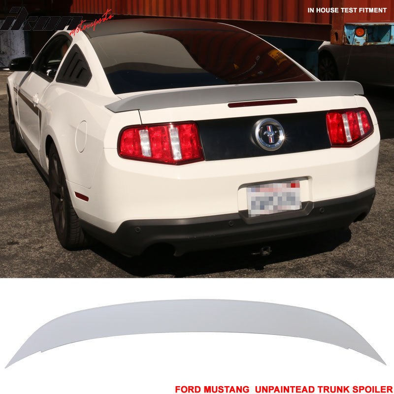 USスポイラー 10-14フォードマスタングコブラGT500スタイル未塗装トランクスポイラーダックテール - ABS 10-14 Ford Mustang Cobra GT500 Style Unpainted Trunk Spoiler Duck Tail - ABS