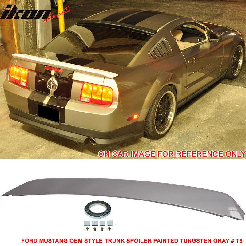 ☆送料無料☆USパーツ 海外メーカー輸入品 USスポイラー 05-09 Ford Mustangトランク スポイラー ペイント タングステン グレー#T8 - Painted ABS セール商品 # Spoiler Gray T8 For Trunk Tungsten 蔵 Fit Mustang