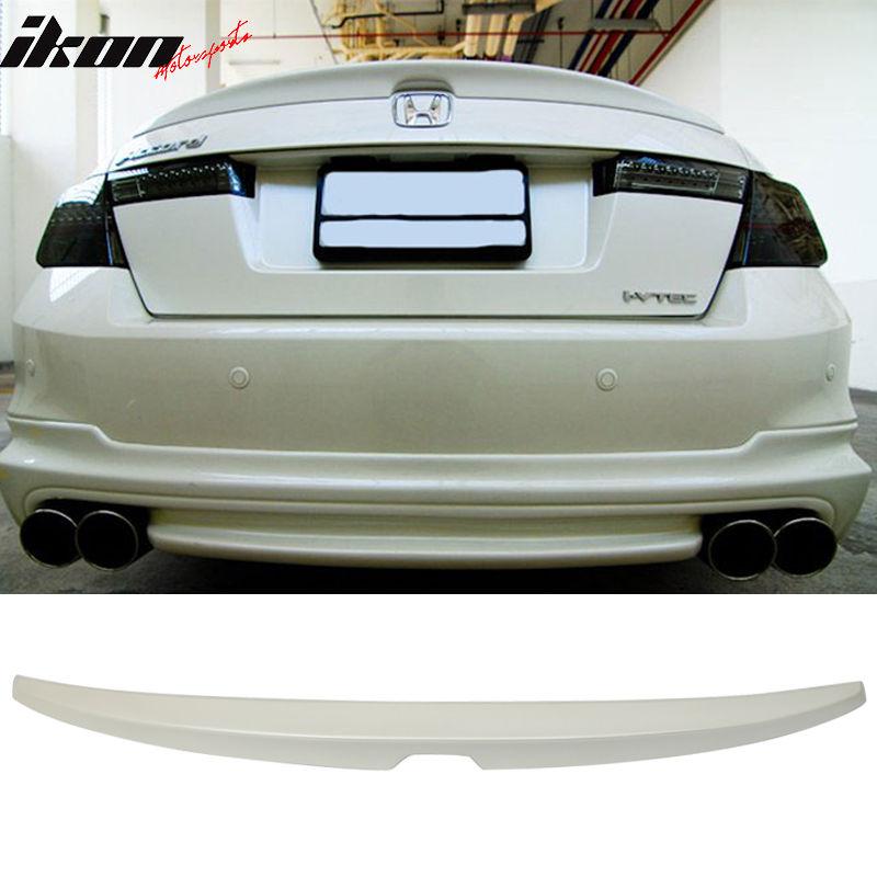 USスポイラー 08-12ホンダアコードOEファクトリートランク・スポイラー#NH603Pホワイトダイヤモンドパール 08-12 Honda Accord OE Factory Trunk Spoiler Painted #NH603P White Diamond Pearl
