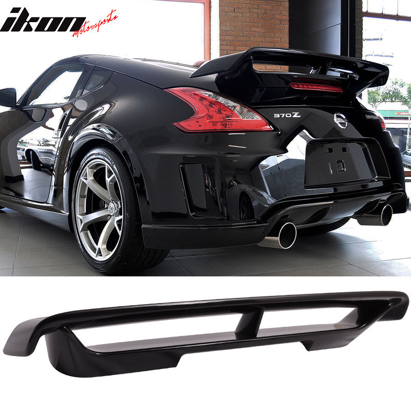 USスポイラー フィット09-17日産370Zニスモトランクスポイラー#G41黒メタリック - ABS Fits 09-17 Nissan 370Z Nismo Trunk Spoiler Painted #G41 Black Metallic - ABS