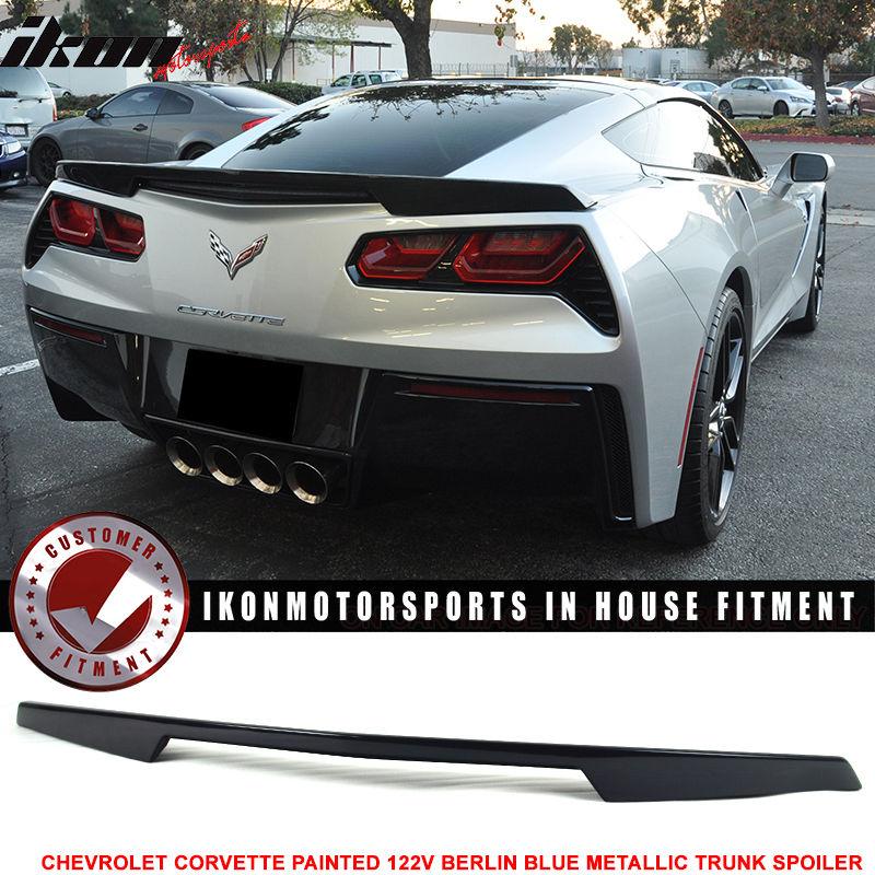 Spoiler Corvette 14-17コルベットC7 Trunk Painted OE USスポイラー #WA122V OE工場のトランク・スポイラー・ペイント・ベルリン・ブルー・メタリック#WA122V Blue Factory 14-17 Berlin Metallic C7