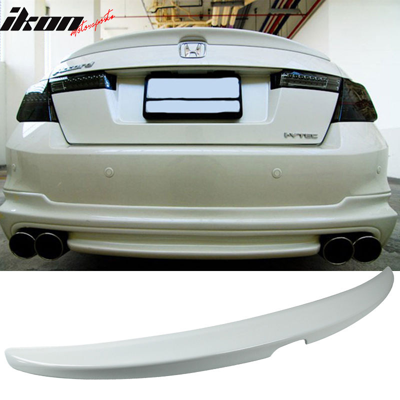 USスポイラー 08-12ホンダアコード4DR OE工場スタイルトランク・スポイラー無塗装 - ABS 08-12 Honda Accord 4DR OE Factory Style Trunk Spoiler Unpainted - ABS