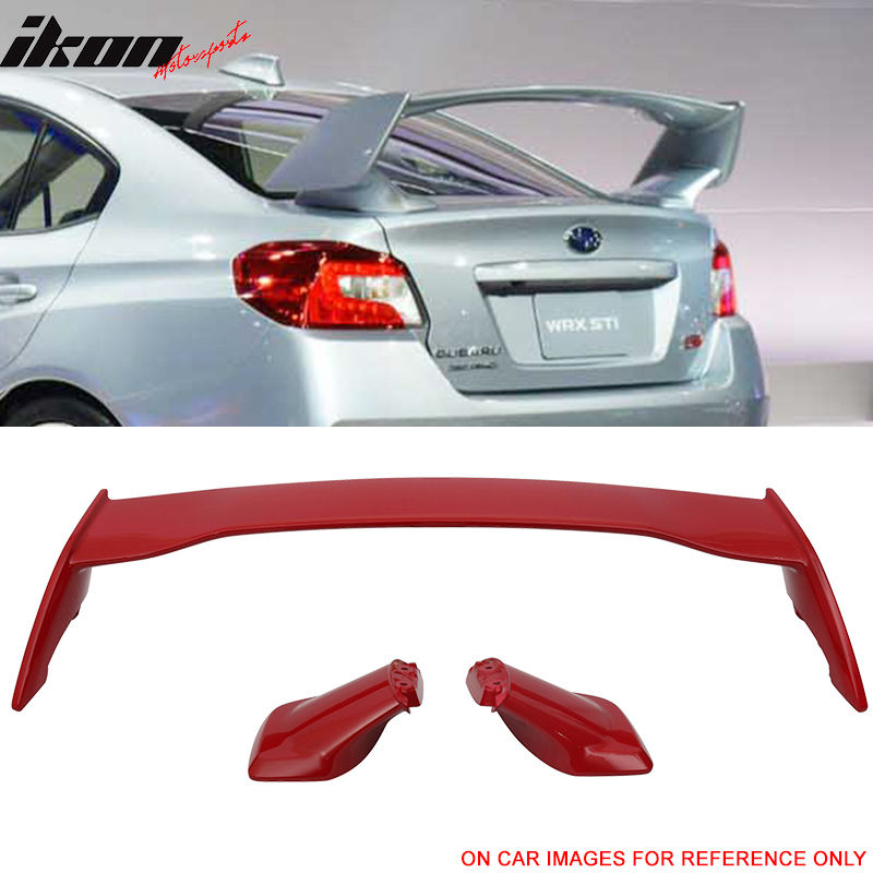 USスポイラー 15-17スバル用WRX STIスタイルABSトランク・スポイラー・ウィング・ペイント・ピュア・レッド#M7Y For 15-17 Subaru WRX STI Style ABS Trunk Spoiler Wing Painted Pure Red # M7Y