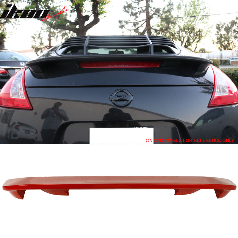 USスポイラー 09-17日産370Z OE工場スタイルのトランク・スポイラー#A54 Vibrant Red For 09-17 Nissan 370Z OE Factory Style Trunk Spoiler Painted #A54 Vibrant Red