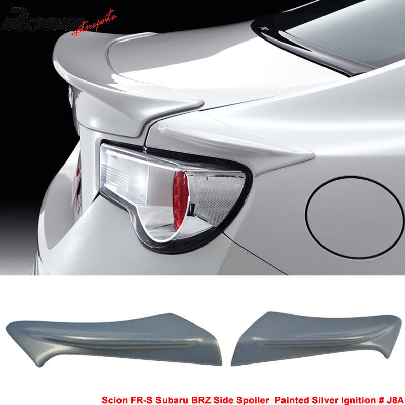USスポイラー フィットFRS GT86 FT86 BRZ TR-D塗装#J8Aシルバーイグニッションサイドスポイラー - ABS Fits FRS GT86 FT86 BRZ TR-D Painted # J8A Silver Ignition Side Spoiler - ABS