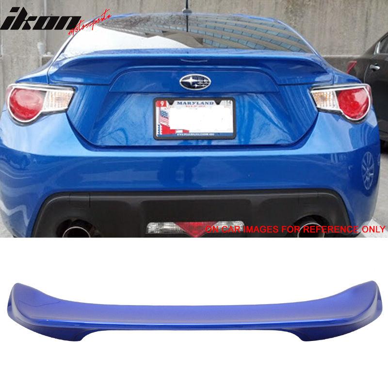 Blue Paint #O2C Trunk Pearl World Fits Scion FRS USスポイラー 13-17 Subaru フィット13-17サイオンFRSスバルBRZトランクスポイラーペイント#O2Cワールドラリーブルーパール BRZ Rally Spoiler