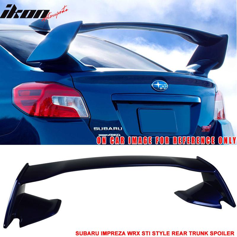 USスポイラー 15-17スバルWRX用STIスタイルトランクスポイラーペイントギャラクシーブルーメタリック#E8H For 15-17 Subaru WRX STI Style Trunk Spoiler Painted Galaxy Blue Metallic # E8H