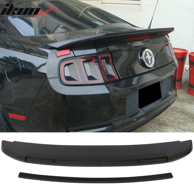 USスポイラー 10-14フォードマスタングGT V6 GT500スタイル未塗装トランクスポイラー - ABS 10-14 Ford Mustang GT V6 GT500 Style Unpainted Trunk Spoiler - ABS