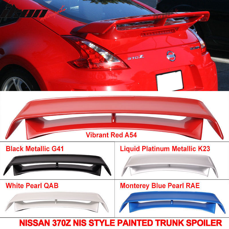USスポイラー フィット09-16日産370Zニスモスタイル塗装トランクスポイラーカラーウイング - ABS Fits 09-16 Nissan 370Z Nismo Style Painted Trunk Spoiler Color Wing - ABS