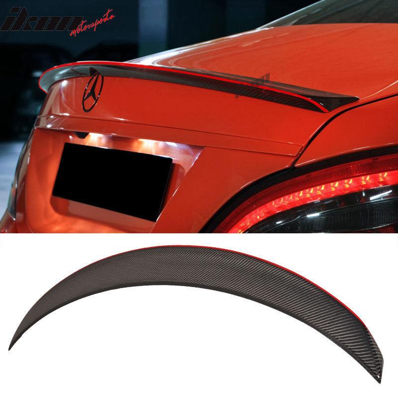 USスポイラー 13-15ベンツCLA W117 4DrセダンPスタイルカーボンファイバーレッドライントリムトランクスポイラー 13-15 Benz CLA W117 4Dr Sedan P Style Carbon Fiber Red Line Trim Trunk Spoiler