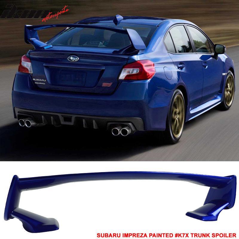 USスポイラー 15-17スバルWRX STI OEスタイル塗装済み#K7X Wrブルーパールトランクスポイラーウイング For 15-17 Subaru WRX STI OE Style Painted # K7X Wr Blue Pearl Trunk Spoiler Wing