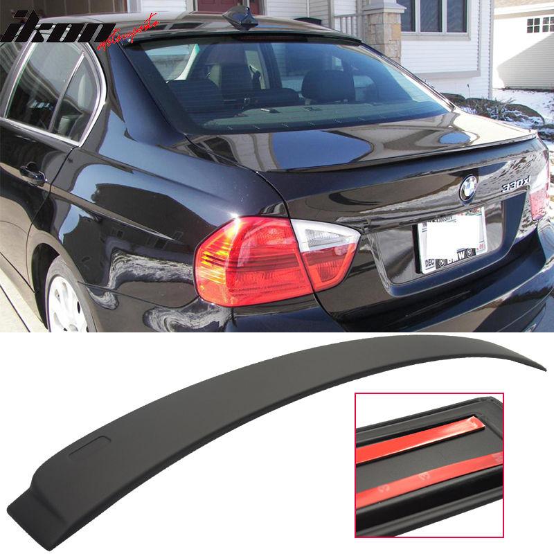USスポイラー 06-11 BMW E90 4Drセダン3シリーズAC-Sスタイルマットブラックルーフスポイラーウィング - ABS 06-11 BMW E90 4Dr Sedan 3 Series AC-S Style Matte Black Roof Spoiler Wing - ABS