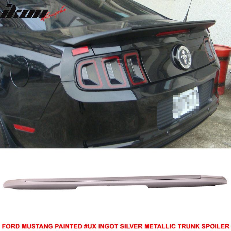 USスポイラー 10-14ムスタングGT V6 GT500スタイルトランクスポイラー#UXインゴットシルバーメタリック 10-14 Mustang GT V6 GT500 Style Trunk Spoiler Painted # UX Ingot Silver Metallic